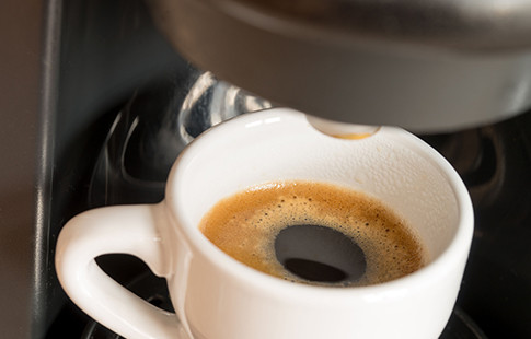 espresso cup just filled