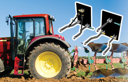 rear hitch system of tractor